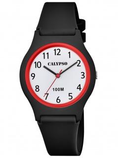 Calypso K5798/6 Uhr Mädchen Kinderuhr Kunststoff schwarz