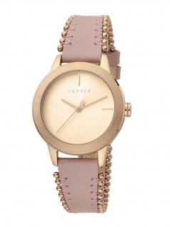 Esprit ES1L105L0055 Bloom Perls Uhr Damenuhr Lederarmband Rosa