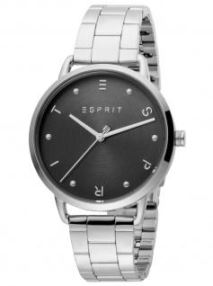 Esprit ES1L173M0065 Fun Black Silver Uhr Damenuhr Edelstahl silber