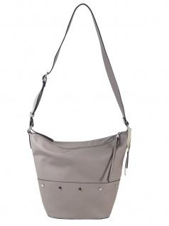 Esprit Damen Handtasche Tasche Schultertasche Fiona shoulderbag Grau