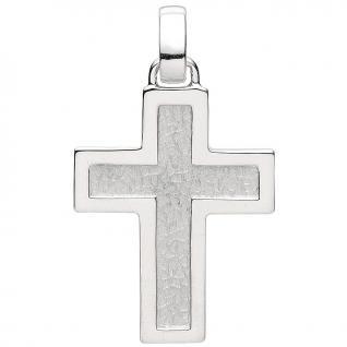 Basic Silber 27.0013S Herren Anhänger Kreuz Silber