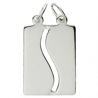 Basic Silber 29.1074S Damen Anhänger Partneranhänger Silber