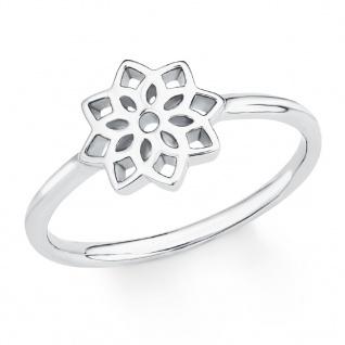 s.Oliver 2017222 Damen Ring Blume Sterling-Silber 925 Silber 52 (16.6)
