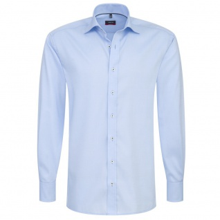 Eterna Herrenhemd Langarm Modern Fit Hellblau Gr. XL/43 8100/10/X177