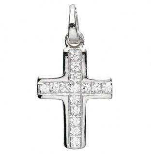 Basic Silber 27.0006S Damen Anhänger Kreuz Silber Zirkonia weiß