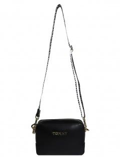 Tommy Hilfiger Damen Handtasche Tasche Iconic Tommy Camera Bag Schwarz