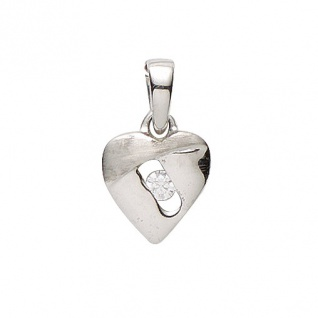 Basic Silber 21.1187S Damen Anhänger Herz Silber Zirkonia weiß