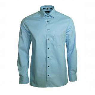 Eterna Herren Hemd Langarm Modern Fit Blau XL/43 Hemden 8048/11/X187