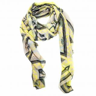 Pieces Tuch JALMOD LONG SCARF Gelb-Rosa Stola Schal Polyester 200 cm