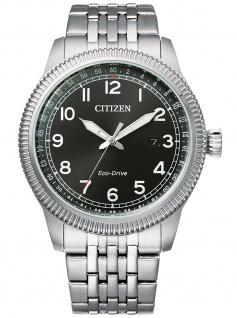 Citizen BM7480-81E Eco Drive Uhr Herrenuhr Edelstahl Datum Silber