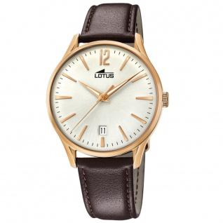 LOTUS 18404-1 REVIVAL Uhr Herrenuhr Lederarmband Datum braun - Vorschau 1