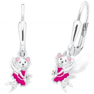 Prinzessin Lillifee 2017989 Mädchen Ohrringe Maus Silber Pink
