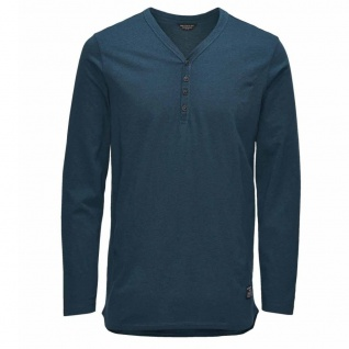 Jack & Jones Herren T-Shirt Shirt Langarm DOWN LS V-Neck Grün Gr M