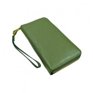 Fossil Geldbörse Emma Large Zip RFID Clutch Grün Damen Leder Börse - Vorschau 2