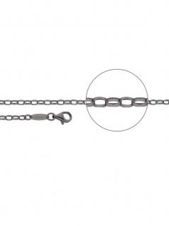 Der Kettenmacher A1-45B Anker Kette Silber 45 cm