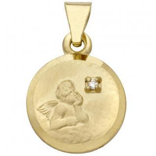 Basic Gold EN21 Kinder Anhänger Schutzengel 14 Karat (585) Gold