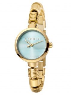 Esprit ES1L017M0045 Shay Green Gold SET Uhr Damenuhr Edelstahl Gold