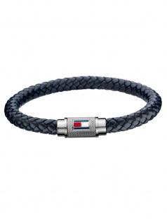 Tommy Hilfiger 2701000L Herren Armband Silber Schwarz 21, 5 cm