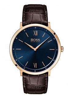 Hugo Boss 1513661 ESSAL Uhr Herrenuhr Lederarmband Braun