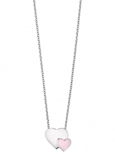 Herzengel HEN-13-HEARTS Mädchen Collier Silber Herz rosa 41, 5 cm