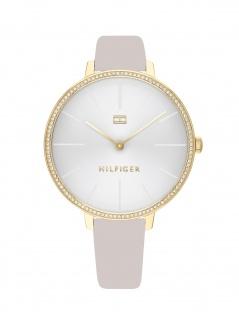 Tommy Hilfiger 1782110 KELLY Uhr Damenuhr Lederarmband Grau