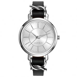 Esprit ES109342001 TP10934 BLACK Uhr Damenuhr Lederarmband schwarz