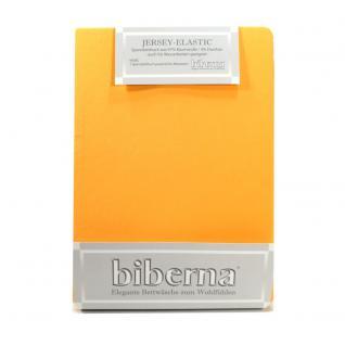 Biberna 77866-530 Jersey Elastic Spannbetttuch Maisgelb 90x190 100x220