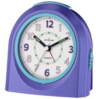 ATRIUM A921-8 Wecker Alarm Analog lila blau