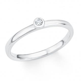 s.Oliver 2017204 Damen Ring Sterling-Silber 925 Silber Weiß 52 (16.6)