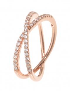 gooix 943-06736-520 Damen Ring Sterling-Silber 925 Rose weiß 52 (16.6)