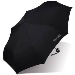 "Esprit Taschenschirm Mini Alu Light "" Diamond"" 50625 Regenschirm Schwarz"