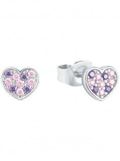 Prinzessin Lillifee 2027218 Mädchen Ohrstecker Herz 925 Silber rosa