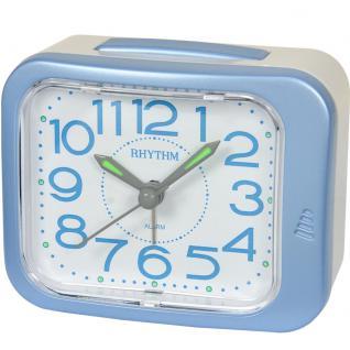 RHYTHM CRE873NR04 Wecker Uhr Alarm Weiss