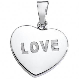 Basic Silber SL21 Damen Anhänger Herz Silber