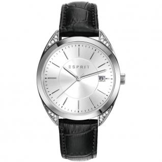 Esprit esprit tp-10897 black Uhr Damenuhr Lederarmband Datum schwarz