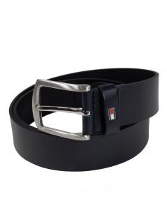 Tommy Hilfiger Herren Gürtel New Denton 3.5 Belt Leder 85cm Blau