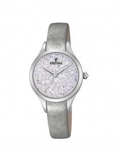FESTINA F20409/1 Uhr Damenuhr Lederarmband Silber