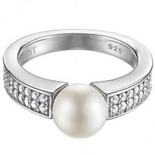 Esprit ESRG91587A Damen Ring Silber precious glam day Perle Gr 50 /16
