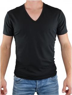 Calvin Klein Herren T-Shirt Kurzarm 2er Pack S/S V Neck Schwarz L