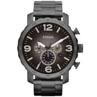 Fossil JR1437 Nate Chronograph Uhr Herrenuhr Edelstahl 50m Datum