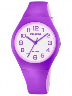 Calypso K5777/7 Uhr Mädchen Kinderuhr Kunststoff lila