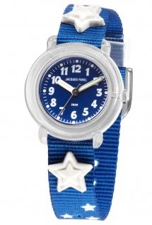 JACQUES FAREL KPA1000 Stern Uhr Junge Kinderuhr Textil blau