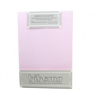 Biberna 77866-111 Jersey Elastic Spannbetttuch Rosa 140x200 - 160x220
