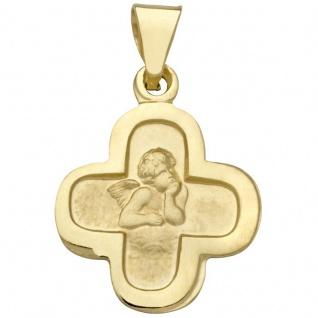 Basic Gold EN20 Kinder Anhänger Kreuz Schutzengel 14 Karat (585) Gold