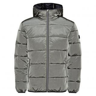 Jack & Jones Winterjacke Herren METALIC Puffer Jacket Grau Gr M