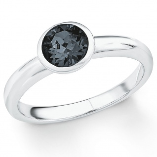 s.Oliver 2018665 Damen Ring Sterling-Silber 925 Silber Grau 58 (18.5)