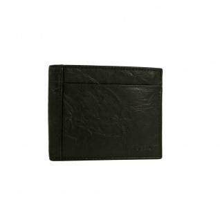 Fossil Geldbörse Neel Large Coin Pocket Bifold Schwarz Leder Börse
