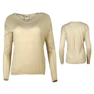 Vero Moda Damen Pullover Pulli BEATRICE LS Blouse Beige Gr. XL