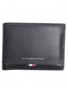 Tommy Hilfiger Herren Geldbörse Business Leather Extra Leder Schwarz