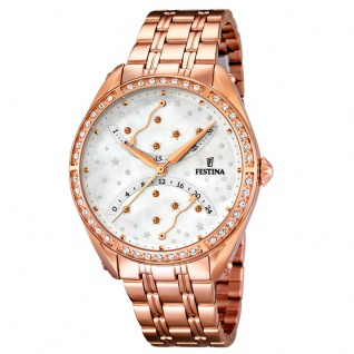 FESTINA F16742/1 TREND Uhr Damenuhr Edelstahl Datum Zirkonia rosé